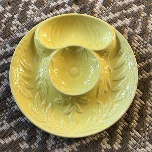 SECLA Portuguese yellow ceramic plate dish platter